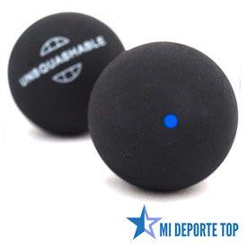 Pelota de squash unsquashable de punto azul